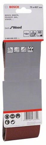 Шліфстрічка 75х457мм К 60 BOSCH (3шт)
