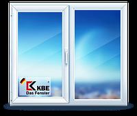 Окно металлопластиковое КБЕ 58мм, поворотно-откидное