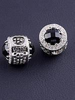 056607 Шарм Фианит 'Pandora style' (родий)