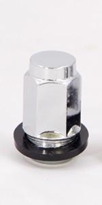 Колесные гайки ZW Конус (M12x1.5x35 NEX19) Хром с пластиковым кольцом