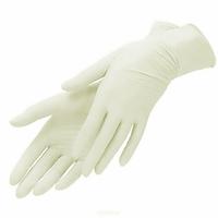 Перчатки Латексные опудренные размер S, М 100 шт. + в Подарок гель антисептик 200 мл