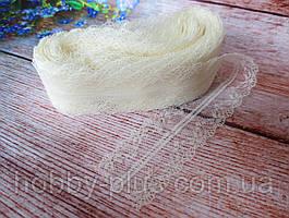"""Кружево """"Цветочное плетение"""", 4 см, цвет молочный"""