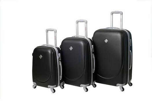 Чемодан сумка дорожный Bonro Smile набор 3 штуки черный