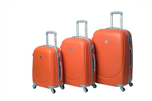 Чемодан сумка дорожный Bonro Smile набор 3 штуки оранжевый