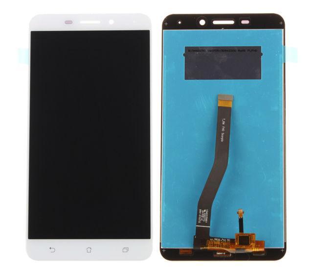 Дисплей для Asus ZenFone 3 Laser (ZC551KL) с тачскрином белый, Glacier Silver Оригинал
