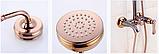 Стойка душевая со смесителем в цвете розового золота 5-021, фото 4