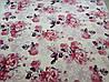 Микрофибровая простынь, покрывало TRUE LOVE евро Розы на розовом, фото 4