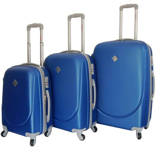 Чемодан сумка дорожный Bonro Smile набор 3 штуки синий