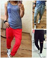 Женские спортивные штаны с разрезами 16723, фото 1