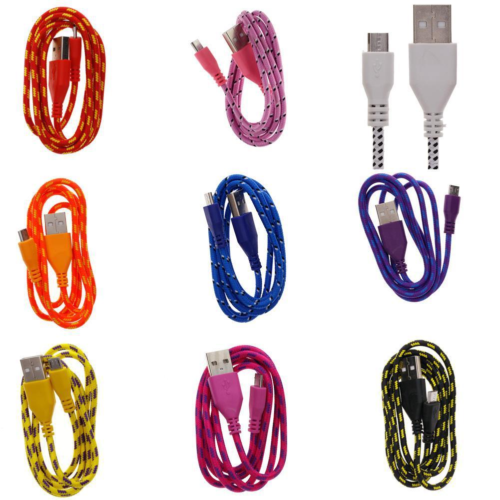 USB дата кабель для Iphone с 5 и по 7 plus SE и Ipod, нейлоновая оплет