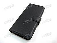 Кожаный чехол книжка Samsung Galaxy J6 2018 J600 черный