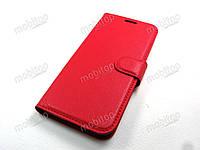 Кожаный чехол книжка Samsung Galaxy J6 2018 J600 красный