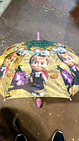 Детский зонтик для девочки полуавтомат со свистком