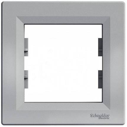 Рамка 1-а Алюміній Asfora Schneider Electric, фото 2