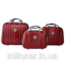 Набор чемоданов и кейсов 6в1 Bonro Smile бордовый, фото 3