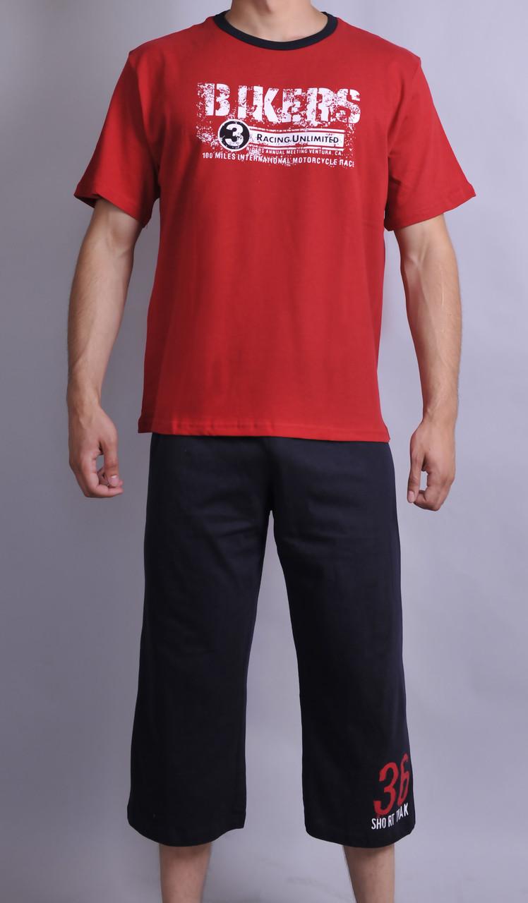 Мужская пижама (Футболка+бриджи)