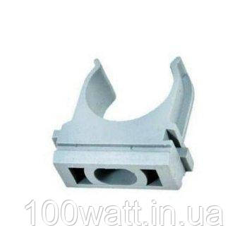 Крепёж (клипса-скоба) для гофротрубы и металлорукава D32