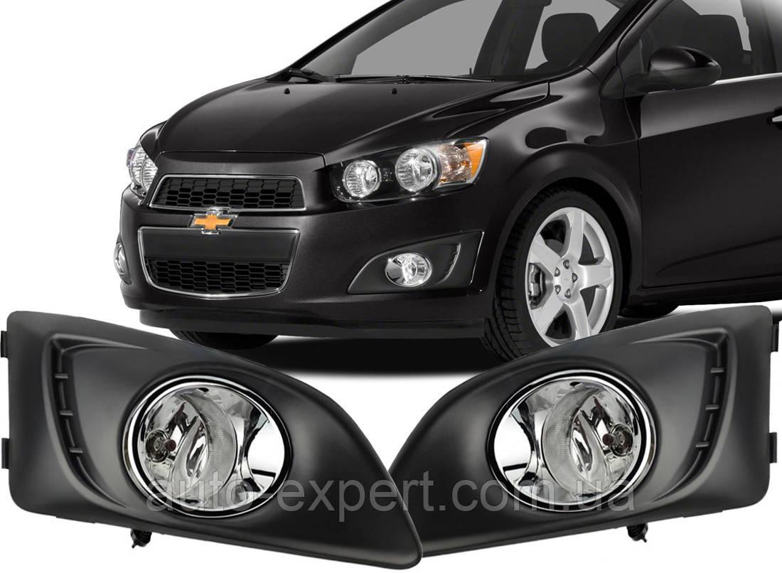 Противотуманные фары Chevrolet Aveo/Sonic 2012- (DLAA)