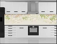 Стеклянный фартук для кухни - скинали Оливки на стене
