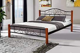 Кровать металлическая Релакс Вуд 1,6 черная