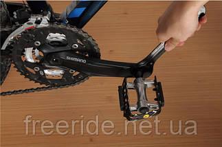 Вело ключ конусный комбинированный 13/15 и 14/16 мм педальный, фото 2