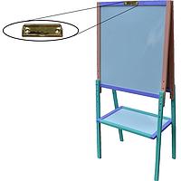 Детский Мольберт с зажимом Высота регулируется до 130 см. Доска для рисования для магнитов, маркеров, мела. К12