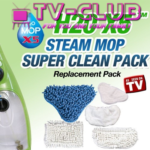 Комплект накладок Super Clean Pack для паровой швабры H2O mop X5