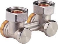 """Клапан для стальных радиаторов, боковое подключение 3/4""""х3/4""""EK, для двухтрубных систем"""