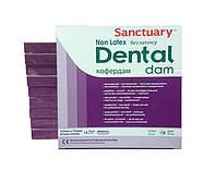 Кофердам без латексу (Non Latex Dental Dam), пурпурний з ароматом м'яти, середній (medium), 15шт