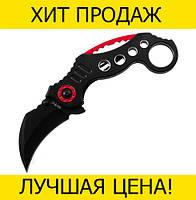 Нож Karambit складной черно-красный