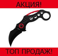 Нож Karambit складной черно-красный!Хит цена