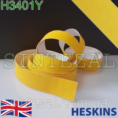 Желтая лента Heskins стандартной зернистости. 50 мм