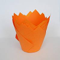 Капсула для кексів (тюльпан помаранчевий) (10 шт.)