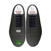 Силиконовые шнурки для кожаной обуви Coolnice Classic С04-30 Темно-синие
