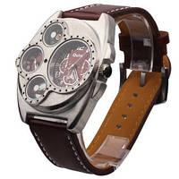 Европейские ретро часы OULM Black с компасом и термометром