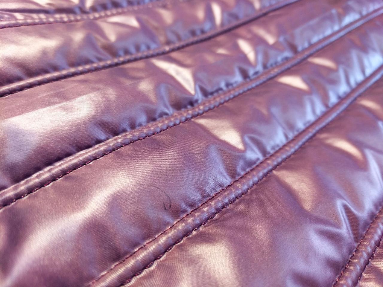 Плащевка строченая полоска, фиолетовый крайол