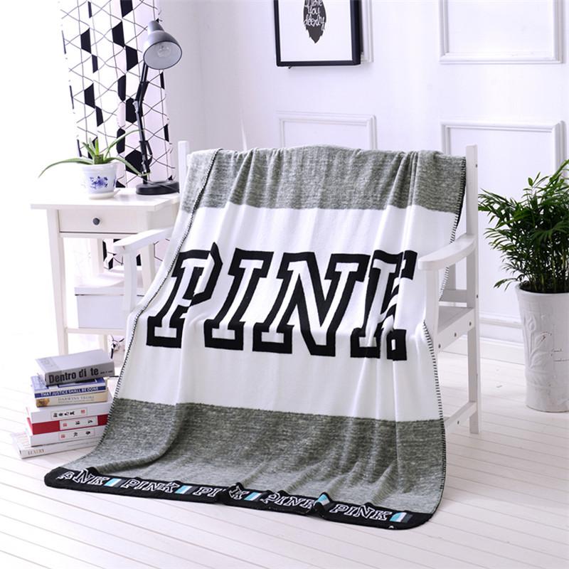 Мягкое полотенце / пляжное полотенце / покрывало / плед Victoria's Secret (Виктория Сикрет) серый pvs9