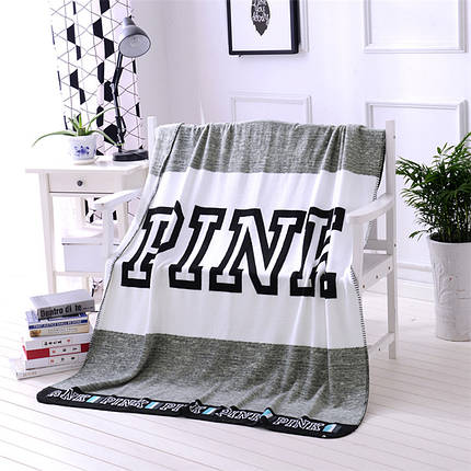 Мягкое полотенце / пляжное полотенце / покрывало / плед Victoria's Secret (Виктория Сикрет) серый pvs9, фото 2