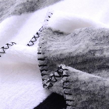 М'яке рушник / пляжне рушник / покривало / плед Victoria's Secret (Вікторія Сікрет) сірий pvs9, фото 2