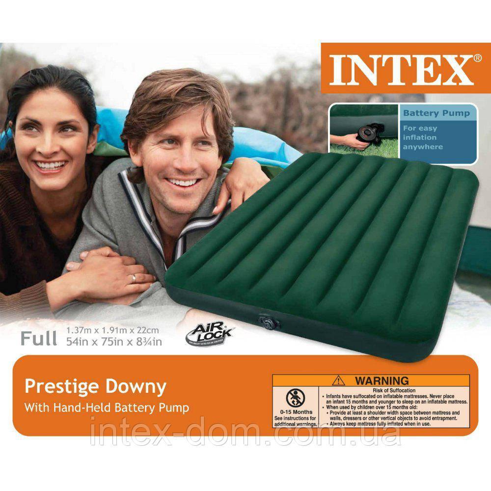 66968 Надувной матрас Prestige Downy Bed, 137х191х22см