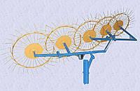 Грабли ворошилки (солнышко) к мотоблоку пятиколесные Ø 5 мм