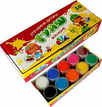 Фарби гуашеві Гамма 321036, 10 кольорів, 200 мл