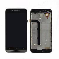 Дисплей для Asus ZenFone Go (ZC500TG) с тачскрином и рамкой черный Оригинал