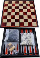 Набор 3в1 Нарды,Шахматы,Шашки (Магнитная доска) №47710, настольные игры , коллективные игры
