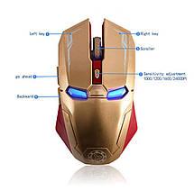 Беспроводная USB игровая мышь Iron Man Taonology, фото 2