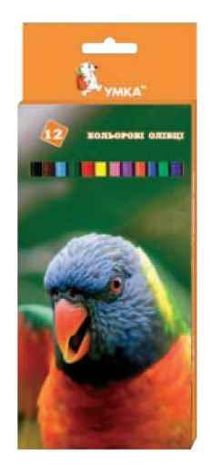 Олівці кольорові Барвінок, Попугай, 12 кольорів