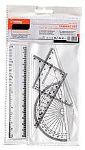 Набір:лінійка 30см+2 трикутники+ транп.,пласт,9018,NORMA