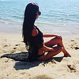 Накидка пляжная черная, прозрачная - S(42р.) бюст 84см, длина 133см, 35% полиэстер, 65% хлопок, фото 7