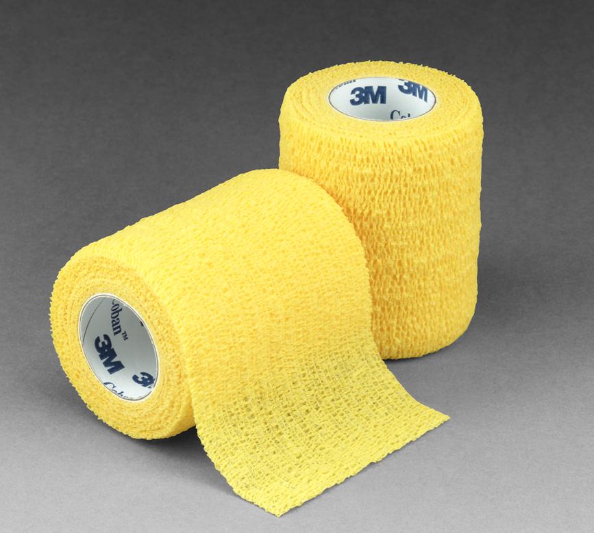 3M Кобан (Coban) желтый 7,5см x 4,6м - Аутоадгезийний эластичный бинт