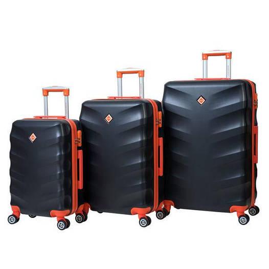 Чемодан сумка дорожный Bonro Next набор 3 штуки черный